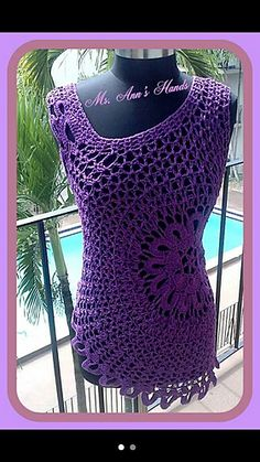 Crochet Tank Top Pattern. PDF. Sizes M-4X. Crochet Summer Top. Crochet Beach Top Pattern