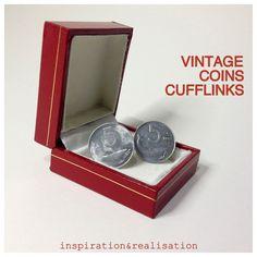 inspiration and realisation: DIY fashion blog: DIY vintage coins cufflinks // gift for men