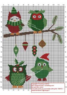 Petites chouettes de Noël (Christmas)
