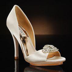 """Badgley""- Mischka Gia in Vanilla  Wedding Shoes by My Glass Slipper;  CUTE..."