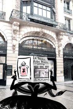 """Paris """"la petite robe Noire"""" Guerlain. La fragrance? Non... Mais le packaging? oui..."""