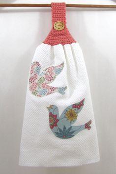Sweet Sparrows Tea Towel