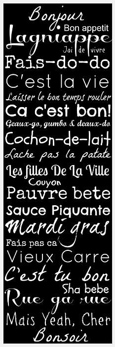 Cajun French Sayings Digital Art by Susan Bordelon - Cajun French Sayings Fine Art Prints and Posters for Sale