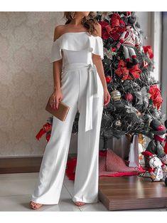 Macacao Crepe Fran Sexy Outfits, Dress Outfits, Fashion Outfits, Womens Fashion, Jumpsuit Elegante, Wedding Pants, Slacks For Women, I Love Fashion, Fashion Design