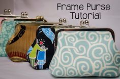 TUTORIAL with free pattern to download: Frame Purse from Sewplicity - cute for holiday gifts -Skye