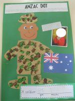 Students make a craft to remember soldiers. Could do for Memorial Day or Veteran's Day