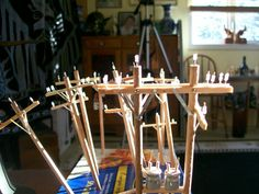 Make your own OO/HO Scale Telegraph Poles #modeltrains
