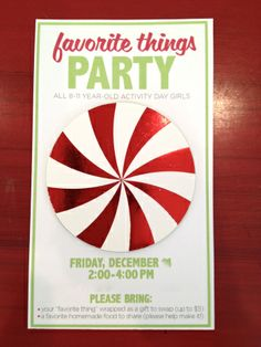 How to make the invitation for our Favorite Things Party