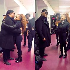 Janet Jackson & Stevie Wonder backstage at the SOTW Tour in Washington DC, 11/16/2017