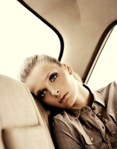 Editorial for the Fashion House Margit Brandt - love the mod style lashes