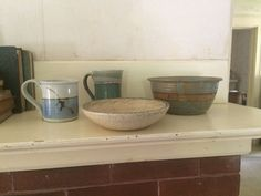 Wabi Sabi Unmatched Small Lot Pottery Bowls and Mugs | eBay