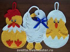 Estes lindos pegadores de panelas encontrei Facebook                                crochet                     ...