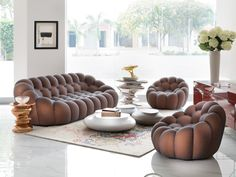 Roche Bobois | New Delhi, India | Bubble sofa showroom display