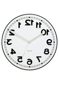 "BACKWARDS!!!!!! LOVE THIS - Mainly because I am so backwards when it comes to ""TIME"". Backwards to the Future Clock 
