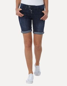 Used Look Jeansbermudas Bermuda Shorts, Denim Shorts, Fashion, Trousers, Jean Shorts, Moda, Fashion Styles, Fashion Illustrations, Fashion Models