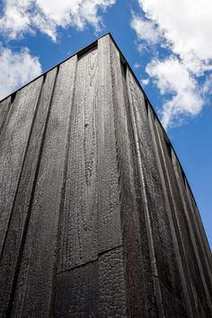 Blackbird House by Will Bruder Architects Madera carbonizada House Cladding, Timber Cladding, Facade Design, House Design, Detail Architecture, Butterfly Roof, Wooden Facade, Black House Exterior, Copper Roof