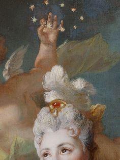 sollertias:  Portrait de la comédienne Marie-Anne de Châteauneuf by Nicolas de Largillierre, 1712 (detail)