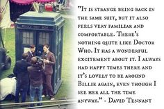 David Tennant on being back on Doctor Who for the 50th and working with Billie again.