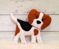 PDF Pattern Buddy the Beagle felt pattern animal by SuperSkattig