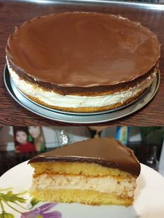 Greek Desserts, Greek Recipes, Candy Recipes, Dessert Recipes, Food Network Recipes, Cooking Recipes, Low Calorie Cake, Greek Pastries, Boston Cream Pie