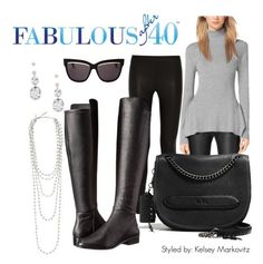 Pair a luxe turtleneck sweater with leggings and knee high boots. | Fabulous after 40