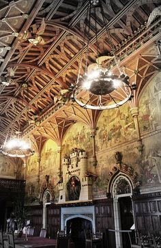 Banquet Hall Cardiff Castle  Designed by William Burges.