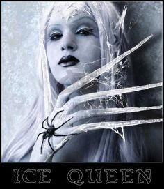 The spider makes it creepy. but I like the rest of it. Snow Queen, Ice Queen, Fantasy Women, Fantasy Art, Spider Art, Creepy Costumes, Ice Princess, Dark Elf, Larp