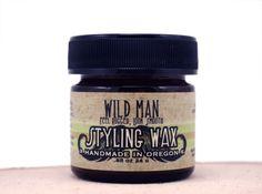 Mustache Wax Beard Moustache Styling Wild Man by WildRoseHerbs, $15.95