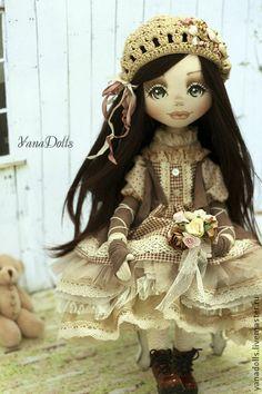 Камилла - бежевый,кукла ручной работы,кукла,кукла текстильная,кукла интерьерная