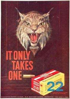 1957 Ad Winchester Super Speed .22LR #vintage #gun #advertising