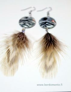 New Collection Q 2014 Art Pieces, Feather, Drop Earrings, Jewellery, Handmade, Collection, Design, Jewels, Hand Made