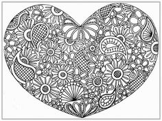 Big Heart Adult Coloring Pages