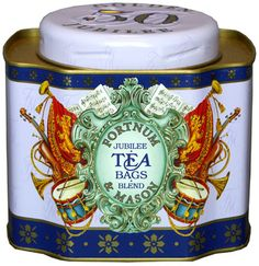 Fornum and Mason Queen's Golden Jubilee Tea Caddy 2002 holds 50 teabags  - World of Tea Caddy