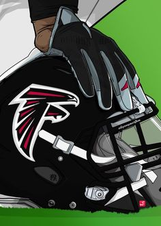 "NFL Team Helmets Atlanta Falcons #Displate artwork by artist ""Akyanyme Dotcom"". Part of a 32-piece set featuring helmet designs based on team emblems from the NFL National Football League. £38 / $51 per poster (Regular size), £76 / $102 per poster (Large size) #NFL #NationalFootballLeague #AmericanFootball #SuperBowl #AtlantaFalcons #Falcons"