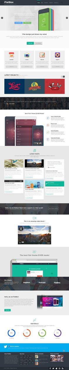 FlatBox Responsive Flat Multipurpose #WordPress Theme http://www.themesandmods.com/premium-wordpress-themes/flatbox/