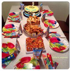 Minion pasta ve dogum günü sofrasi