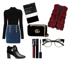 """""""Winter shopping x❤️"""" by macie-miller-1 on Polyvore featuring Misha Nonoo, Balmain, John Lewis, Ted Baker, Gucci and NARS Cosmetics"""