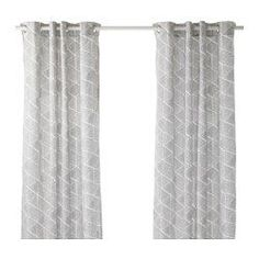 IKEA - NUNNERÖRT, Curtains, 1 pair, , The thick curtains darken the room and provide privacy by preventing people outside from seeing into the room.The eyelet heading allows you to hang the curtains directly on a curtain rod.