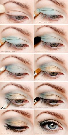 Blue is making a comback this spring and summer. This is a great way to do it. - Click image to find more makeup posts