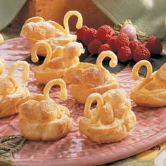 Wedding Swan Cream Puffs, Love These!  Would be good for lots of other special occasions as well.