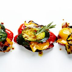 Balsamic Grilled Vegetable Stacks recipe #BiteMeMore