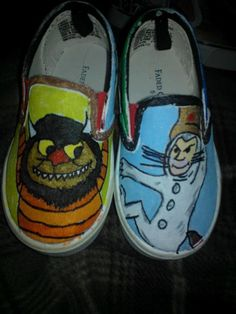 Where the wild things are hand painted shoes by LoveInspiredGoods, $40.00