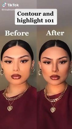Contour Makeup, Contouring And Highlighting, Skin Makeup, Eyeshadow Makeup, Face Contouring, Contouring For Beginners, Best Contouring Products, Beauty Products, Edgy Makeup