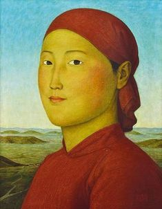 Xue Mo, Portrait in Red