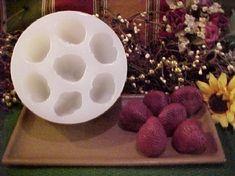 Strawberry X-Large Tarts 7 Cavity Silicone Mold 2476 Tart Molds, Bath Soap, Cavities, Silicone Molds, Wax, Strawberry, Homemade, Tarts, Soaps