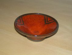 Red #ceramic #bowl by #KroezeDezign #odderhøjskole