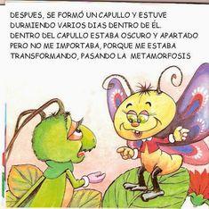 Cuentos infantiles: La mariposa y el grillo. Metamorfosis del gusano.