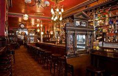 Irish Bar design Victorian style- The Long Hall, Ornate Bar divider screens