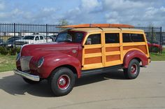 Much modified 1939-40 Ford Woodie built on a 4X4 Chevrolet 3500 truck chassis.