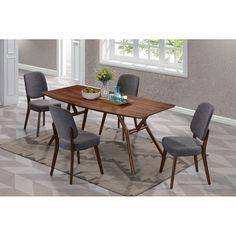 willow cherry modern angled leg wood 7 piece dining set furniture rh pinterest com